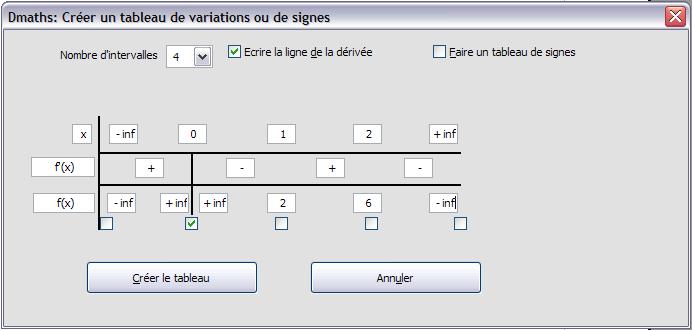 Description Tableauvariation Documentation Dmaths